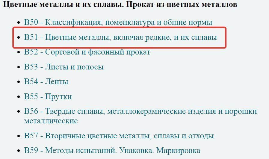 Список ГОСТов подраздела В51 классификатора ГОСТ